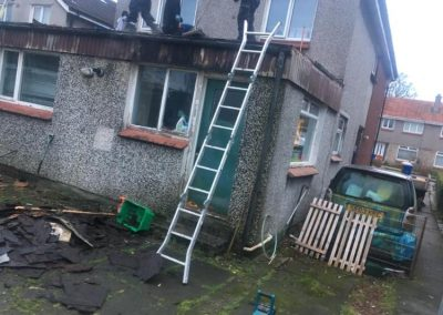 garage roof replacement Glasgow - before