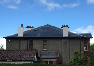 completed roof installation in Glasgow