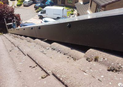 After solar panel barrier Cambuslang, Glasgow